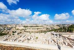 Panoramastad av Jerusalem Arkivbild