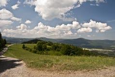 Panorama av Beskydy bergskedja Royaltyfri Bild