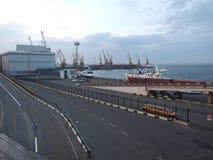 Panoramat av docks Royaltyfri Fotografi