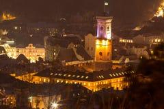 Panoramat beskådar, Lviv royaltyfri bild