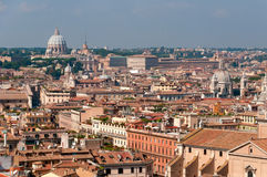 Panoramatak av Rome Royaltyfri Foto