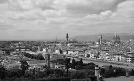 Panoramatic άποψη της Φλωρεντίας, Ιταλία Στοκ Φωτογραφία