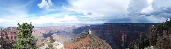 Panoramatic bild av den Grand Canyon nationalparken, USA royaltyfri bild