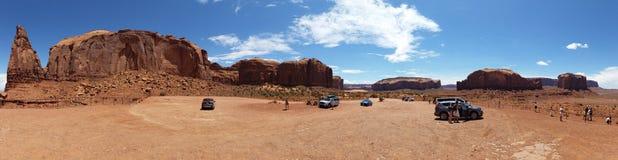 Panoramatic bild av monumentdalnationalparken, USA royaltyfria bilder