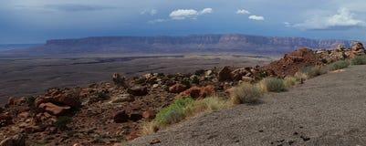 Panoramatic foto av Arizona härliga landskap arkivfoto