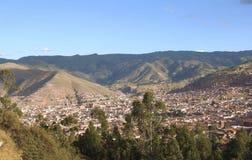 Panoramatic sikt av Cusco, Peru Royaltyfri Foto