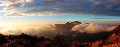 Panoramatic sikt för morgon Arkivfoto