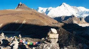 Panoramatic view of Cho Oyu Royalty Free Stock Images