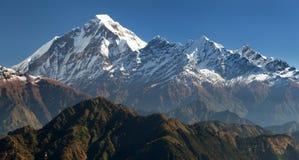Panoramatic view from Jaljala pass of Dhaulagiri Royalty Free Stock Photos