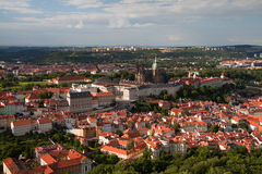 Panoramatic view of the Prague. Czech republic stock image