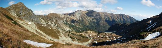 Panoramatic view from Rohace Mountainc Royalty Free Stock Photos