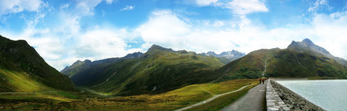 Panoramatic view from silvretta royalty free stock photo