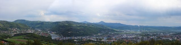 Free Panoramatic Wiev To Usti Nad Labem From Erbens Lookout Tower. Cz Royalty Free Stock Images - 118433469