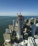 Panoramatorn Brickell under konstruktion Arkivfoto
