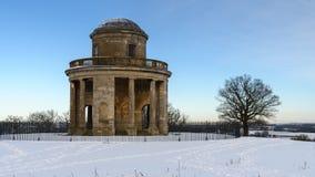 Panoramatorn med snö Royaltyfria Bilder