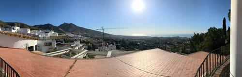 Panoramautsikt över den Benalmadena puebloen, Malaga, Spanien Royaltyfria Bilder