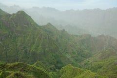 Panoramautsikt av ön av Santo Antao, Kap Verde arkivbilder