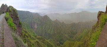 Panoramautsikt av ön av Santo Antao, Kap Verde royaltyfria foton