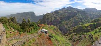 Panoramautsikt av ön av Santo Antao, Kap Verde arkivfoton
