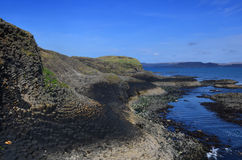 Panoramautsikt av ön av Staffa Royaltyfri Bild