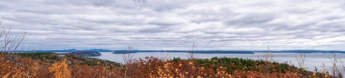 Panoramautsikt av Acadianationalparken arkivfoton