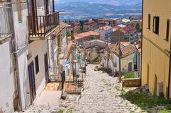 Panoramautsikt av Acerenza Basilicata italy arkivbilder