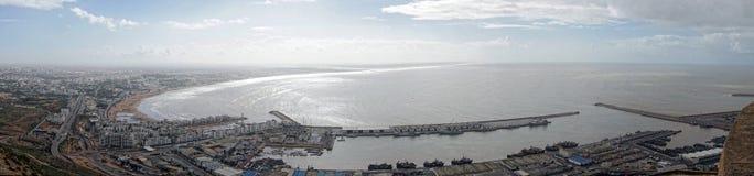 Panoramautsikt av Agadir i Marocko Royaltyfri Bild