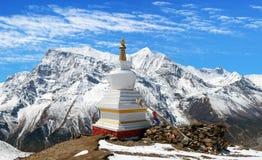 Panoramautsikt av Annapurna område Royaltyfria Bilder