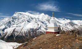 Panoramautsikt av Annapurna område Royaltyfria Foton