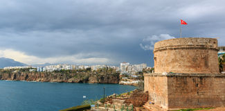 Panoramautsikt av Antalya Royaltyfri Foto