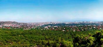 Panoramautsikt av Antalya, Turkiet arkivfoton