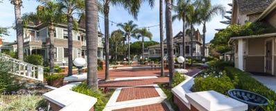 Panoramautsikt av arvfyrkanten i Oxnard, Kalifornien Arkivfoton