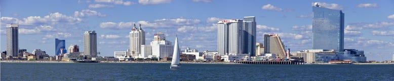 Panoramautsikt av Atlantic City som är ny - ärmlös tröja Arkivfoton