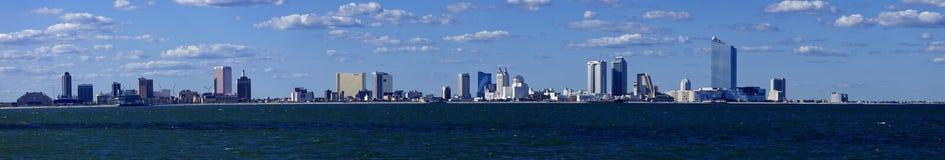 Panoramautsikt av Atlantic City som är ny - ärmlös tröja från havet Arkivbild