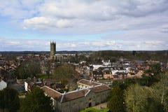 Panoramautsikt av av Warwick, England, Förenade kungariket Arkivbilder