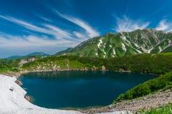 Panoramautsikt av berg i sommar Arkivfoton