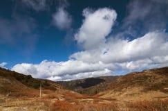 Panoramautsikt av berg, Sikkim Arkivbild