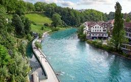 Panoramautsikt av Berne, Schweiz Royaltyfria Bilder