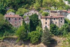 Panoramautsikt av Brienza Basilicata italy fotografering för bildbyråer