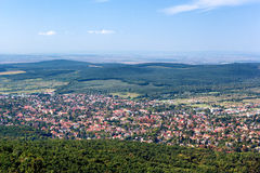 Panoramautsikt av Budakeszi, Ungern Royaltyfri Fotografi