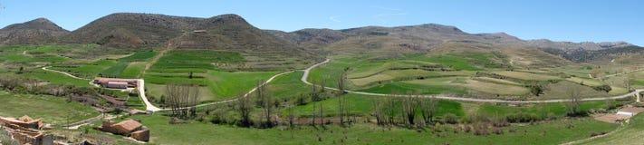 Panoramautsikt av byn teruel Royaltyfria Foton