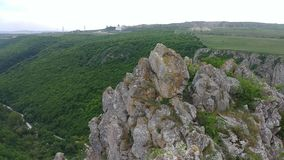 Panoramautsikt av Cheile Turului naturlig reservation arkivfilmer
