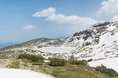 Panoramautsikt av de sju Rila sjöarna i det Rila berget, Bulgarien Royaltyfria Bilder