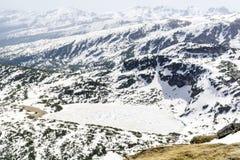 Panoramautsikt av de sju Rila sjöarna i det Rila berget, Bulgarien Arkivbilder