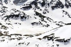 Panoramautsikt av de sju Rila sjöarna i det Rila berget, Bulgarien Royaltyfri Fotografi