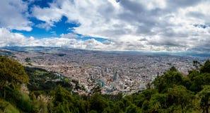 Panoramautsikt av den Bogota staden, Colombia Royaltyfria Bilder