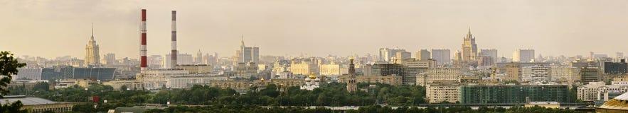 Panoramautsikt av den centrala Moskva Ryssland Royaltyfri Foto