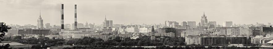 Panoramautsikt av den centrala Moskva Ryssland Royaltyfria Bilder
