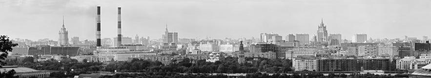 Panoramautsikt av den centrala Moskva Ryssland Royaltyfri Fotografi
