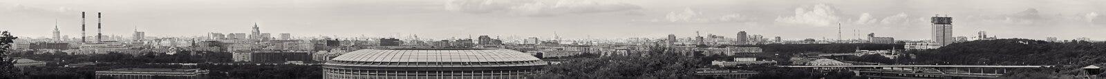 Panoramautsikt av den centrala Moskva Ryssland Arkivbilder